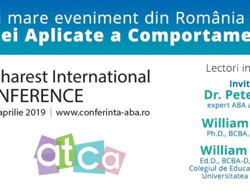Înscrieri deschise pentru cea de a VII-a ediție a Conferinței Internaționale ABA – 12-14 aprilie, la București